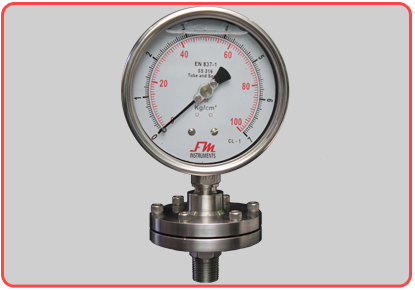 Diaphragm-Sealed-Pressure-Gauge